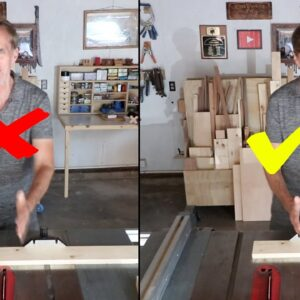 How should you position your body at a tablesaw? Shoeshine box observations.| LOCKDOWN Day 169
