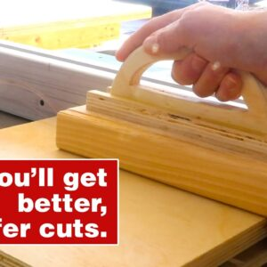 Why should you make this push block? Essential woodworking jig and shop project.