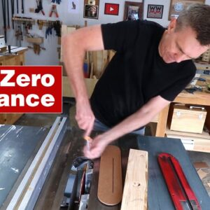 How to make a zero clearance insert plate. Essential woodworking table saw jig.