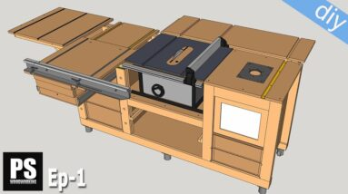 DIY Mobile Workbench with Table Saw & Router Table / Ep 1