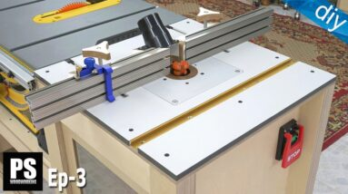 Homemade Router Table & Router Insert / Mobile Workbench EP 3