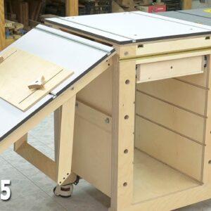 DIY Workbench Side Folding Table / Mobile Workbench EP 5