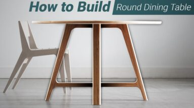 How to Build a Modern, Round Dining Table - Woodworking